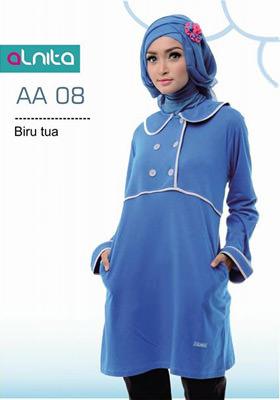 Baju Atasan Alnita AA 08 Biru Tua