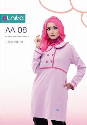 Baju Atasan Alnita AA 08 Lavender