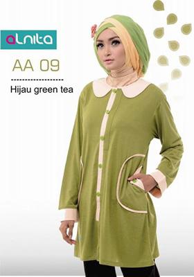Baju Atasan Alnita AA 09 Hijau Green Tea