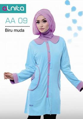 Baju Atasan Alnita AA 09 Biru Muda