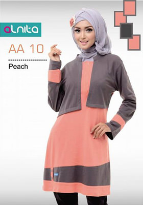 Baju Atasan Alnita AA 10 Peach