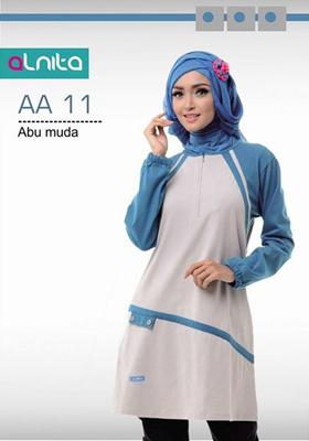 Baju Atasan Alnita AA 11 Abu Muda