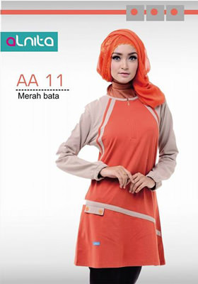 Baju Atasan Alnita AA 11 Merah Bata