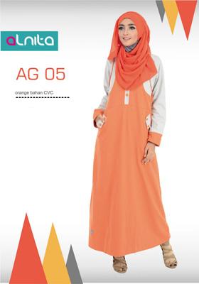 Gamis Alnita Orange