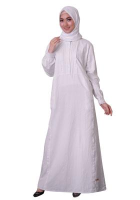 Gamis Putih Polos Nibras Nb 169