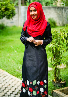 Nibras Gamis NB 49 Blue Jeans