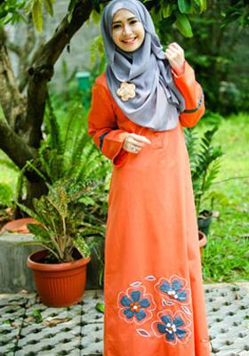Nibras Gamis Orange
