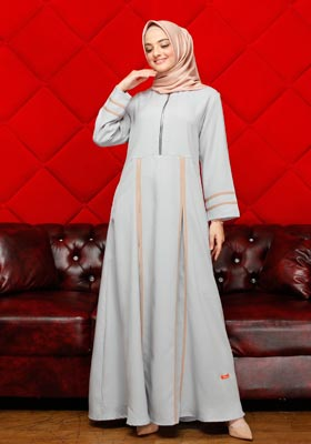 Nibras Gamis NB A09 Dusty Blue