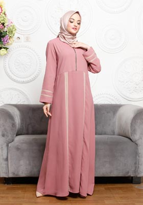 Nibras Gamis NB A09 Dusty Pink