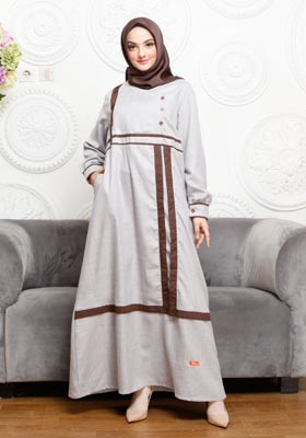 Nibras Gamis NB A10 Chocolate