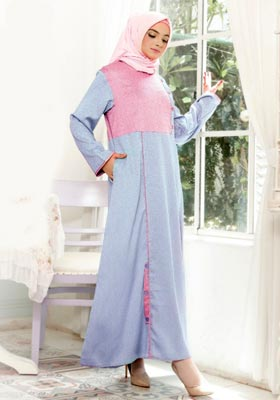 Nibras Gamis NB A12 Baby Blue