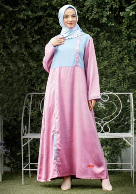 Nibras Gamis NB A12 Baby Pink