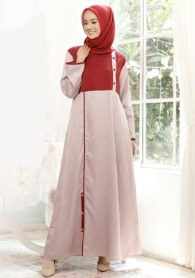 Nibras Gamis NB A12 Dusty Pink