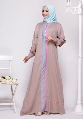 Nibras Gamis NB A14 Latte Two Tone
