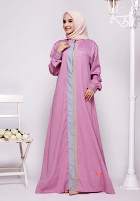 Nibras Gamis NB A14 Lavender Two Tone