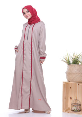 Nibras Gamis NB A21 Latte Two Tone