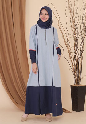 Nibras Gamis NB A27 Dusty Blue
