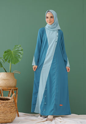 Nibras Gamis NB A34 Tropical Blue