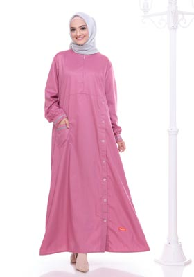 Gamis Nibras Basic NBC 01 Dusty Pink