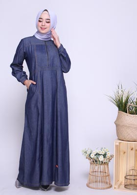 Gamis Nibras Basic NBC 05 Blue Jeans