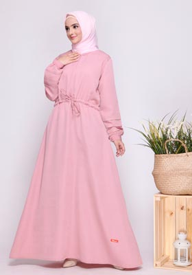Gamis Nibras Basic NBC 06 Dusty Pink