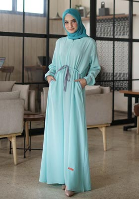 Gamis Nibras Basic NBC 08 Baby Mint