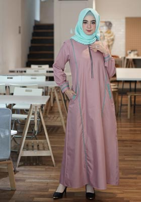 Gamis Nibras Basic NBC 10 Dusty Pink