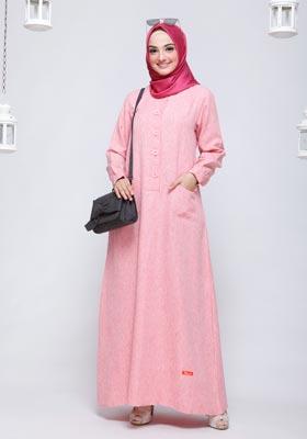 Gamis Nibras Basic NBC 13 Pink