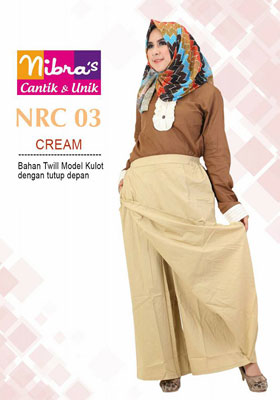 Rok Celana NRC 03 Cream