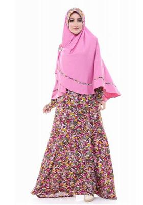 Gamis Nibras Syar'i Jersey Pink