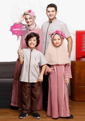 Nibras Sarimbit Keluarga SK 59 Dusty Pink