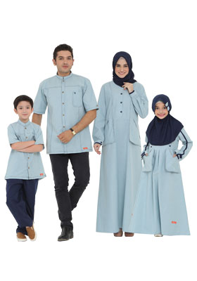Nibras Sarimbit Family SK 65 Dusty Blue