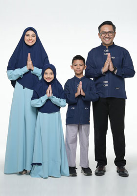 Nibras Sarimbit Family SK 69 Biru Niagara