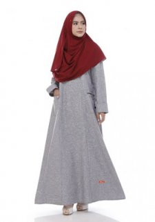 Baju Gamis Rompi Batik